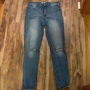Hollister jeans 5 destroyed light wash